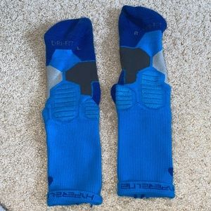 Nike Hyper Elite Blue Basketball Socks